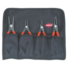 Knipex 4pc Internal & External Circlip Pliers Set in Tool Roll 00 19 57