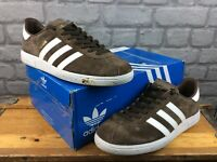 ADIDAS OG MENS UK 10 EU 44 2/3 MUNCHEN SUEDE BROWN WHITE TRAINERS RRP £75 M