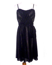 NWOT Maxandcleo BCBG Black Semi Sheer Mesh Dress Minidress sz 8