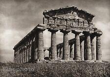 1925 Vintage ITALY PAESTUM Temple Ceres Ruins Architecture Photo Art ~ HIELSCHER