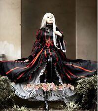 Fate Stay Night Saber Fate Zero Irisviel Cosplay Costume Goth Lolita dress Black