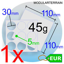 1x CLEAR ACRYLIC MOVEMENT TRAY 3x3 30mm ROUND BASE BANDEJA MOVIMIENTO WAR HAMMER