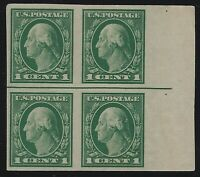US Stamps - Scott # 481 - Mint Never Hinged Block of 4                   (D-062)