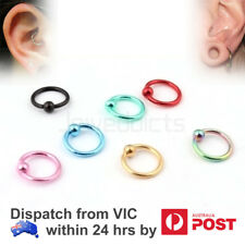 Captive Bead Universal Piercing Ring Ear Tragus Lip Helix Nose Surgical Steel