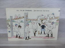 Old postcard - Military Humor - A la Caserne - Les exercices : les barres signed