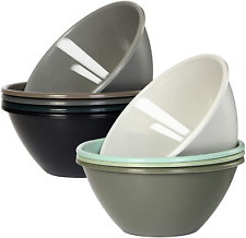 32 Ounce Plastic Bowls Large Cereal Bowls Large Soup Bowls Microwave Safe 9 Pack