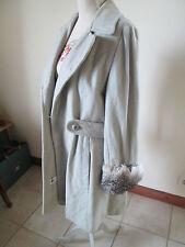 Beau manteau LOGNAN'S LANCASTER vintage 100% LAINE et fourrure TBEG T 40