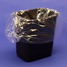 25ct. Semi Frosted Clear 7-10 Gallon Garbage Trash Can Bags Wastebasket Liners