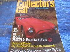 1981 FEBRERO COLLECTORS CAR REVISTA/AC ACE AUSTIN 7 RAYO DE SOL TIGRE MUSEO #bk1