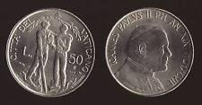 VATICANO - GIOVANNI PAOLO II - 50 LIRE 1997 FDC/UNC FIOR DI CONIO