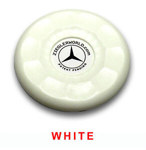 4 MEDIUM SIZE REPLACEMENT AMERICAN SHUFFLEBOARD PUCK CAP TOPS - WHITE COLOR
