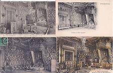 Lot de 4 cartes postales anciennes FONTAINEBLEAU chambre marie-antoin NAPOLEON 1