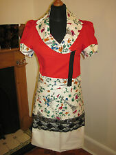LULU AND RED SUIT EIFFEL Tower JACKET & bustle SKIRT set outfit 10-12 LOLITA NEW