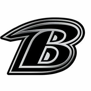 Baltimore Ravens NFL Chrome Car Auto Vehicle Emblem AdhesiveTeam Logo Decal