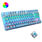 Mechanical Gaming Keyboard Blue Switch Wired 87 Keys RGB Backlit for PC PS4 Xbox