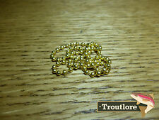 HARELINE BEAD CHAIN EYES SMALL GOLD - NEW NYMPH / WET FLY TYING MATERIALS
