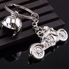 Schlüsselanhänger Metall Motorrad Helm Biker Harley Schlüsselbund Keyring GUT