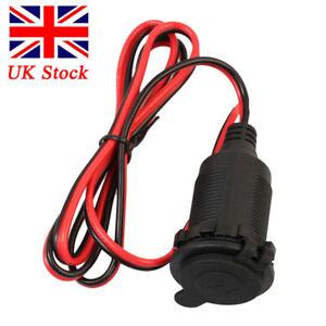 Car 12v Cigarette-lighter Charger Cable Female Socket Plug Connector Adapter UK