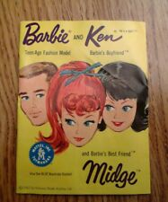 Vintage Barbie original 1962 yellow booklet in ex cond