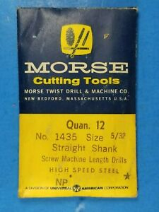 """Morse Cutting Tools No.1435 Size 5/32"""" Screw Machine Length NP 12 Pack"""