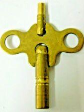 New Brass Clock Key Double End 7/3