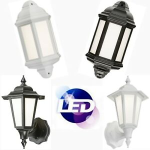 Outdoor Wall LED Full Half Lantern IP54 Garden Security PIR Motion Sensor Light