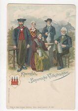 Rheinpfalz Bayerische Volkstrachten Germany Vintage U/B Postcard 476a
