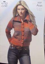 King Cole knitting pattern leaflet no.3227 Ladies cardigan size 81-107cm.