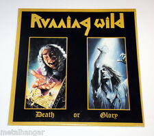 Running Wild 'Death Or Glory' 1st Press '89 Original Vinyl Record LP Rare Greek