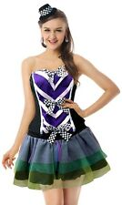 Ladies 4 Pc Mad Hatter Tutu Alice in Wonderland Fancy Dress Costume Outfit 8-12