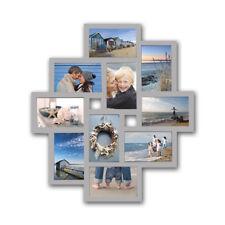 Bilderrahmen Fotogalerie 10 Bilder Kunststoff Bildergelarie Rahmen Silber Br9728