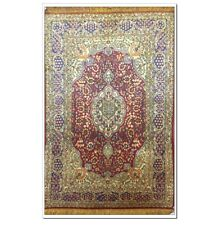 Yilong 2.5'x4' Medallion Hand Woven Area Rug Floral Hand Knotted Silk Carpet