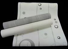 "13186-) Vliestapete ""Retro"" schicke Design Tapete grau - weiss - silber"