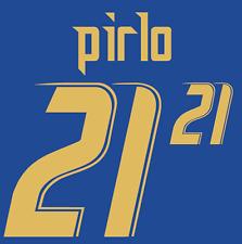 ITALIA PIRLO 21 NAMESET 2006 SHIRT CALCIO Numero Lettera di calore stampa Football Home