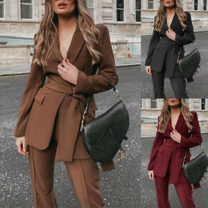 Fall 2021 New Fashion Temperament Loose and Thin Casual Suit Two-piece Women