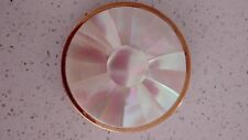 Vintage Swiss Made Art Deco Mother of Pearl Powder Compact