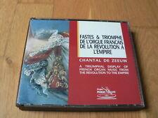De Zeeuw - Fastes et Triomphes de l'Orgue Français -Sejan, Balbastre, Benaut 2CD