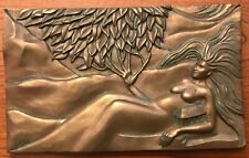 """Earth Elements Ann Zeleny Cold Cast Bronze Plaque 9"""" x 5.5"""" JBL 1998 SASO Signed"""