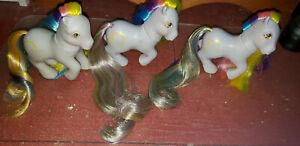 3 X My Little Pony MLP G1 Vtg 1985 Ringlets Brush 'n Grow Earth Pony