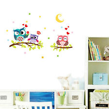 Owl Tree Vinyl Removable Wall Sticker Mural Kids Room Home Creative Decor