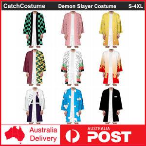 Demon Slayer Kimetsu no Yaiba Kamado Tanjirou Cosplay Costume Robe Cloak Kimono