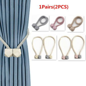 2Pcs Strong Magnetic Curtain Tie Backs Buckle Clips Holdbacks Curtain Tie Rope