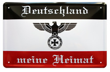 Retro Blechschild 20x30 Deutschland meine Heimat Reichsflagge Deutsches Reich