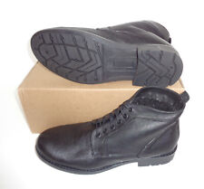 Mens New Black Leather Boots Lace Ankle Combat Chelsea Shoes RRP £69 Sizes 6-11