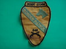 Desert Storm Patch US 1st Cavalry Division 545th MILITARY POLICE Co BORDER FORCE