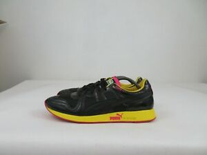 Puma RS-100 LS Shoes Lace Up Athletic Sneaker Walking Black Yellow Mens 13