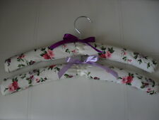 Coat hangers Padded Hand Sewn in Priory Laura Ashley fabric set of TWO. NEW