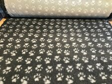 Non Slip Vet Bed Dog Puppy Pet Whelping Fleece Charcoal Grey Paws Freepost