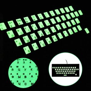 Luminous English Keyboard Stickers Laptop PC Letter Protective Alphabet Button