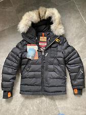 Parajumpers SkiMaster GIRLS Black Fur Jacket Age 10 BNWT Coat RRP £585